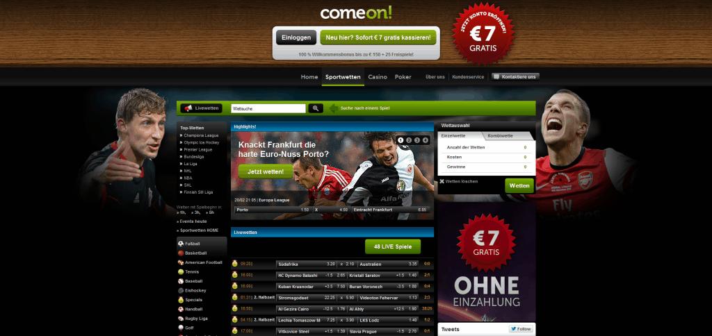 ComeOn Casino - Gutscheincode und Bonus ohne Einzahlung