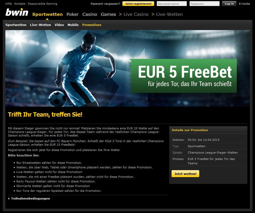Bwin Promo Code 5 Euro