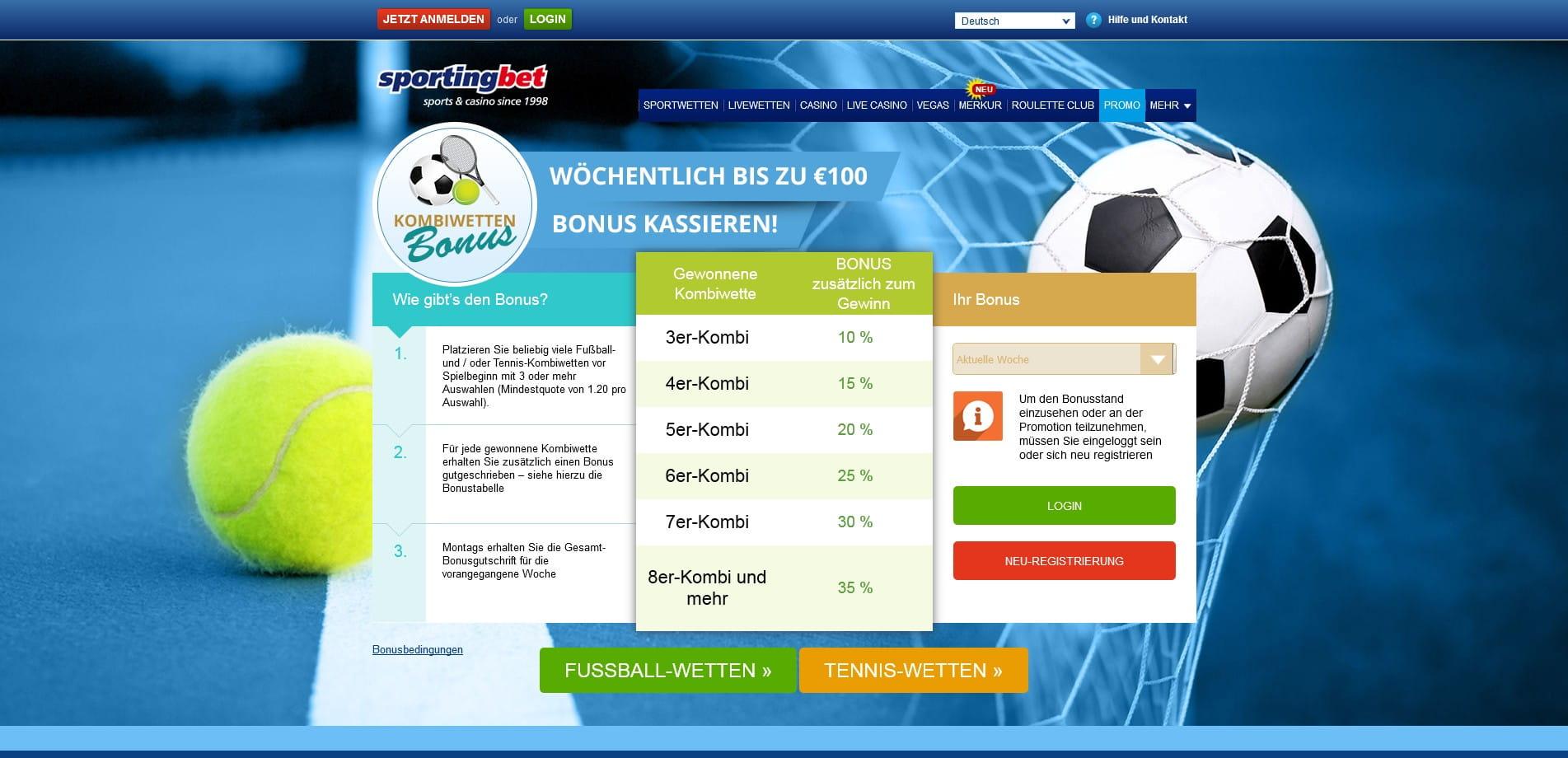 Sportwetten 100 prozent bonus