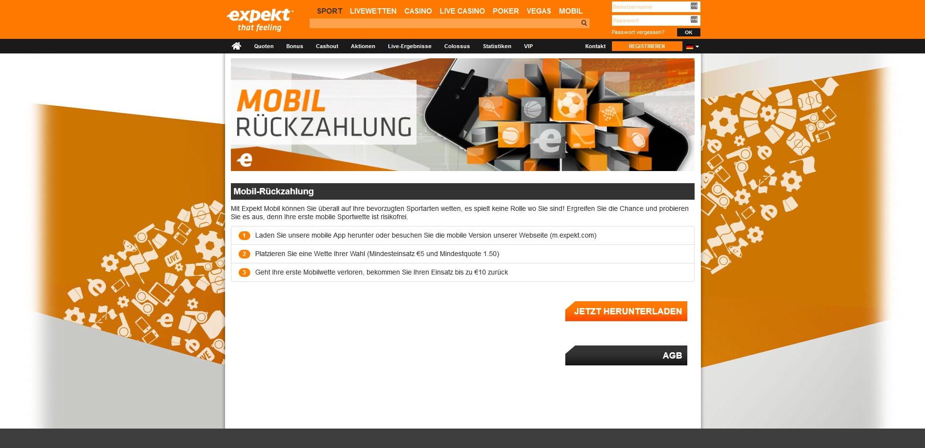 mobile wetten bonus